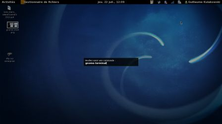 Launcher de GNOME Shell