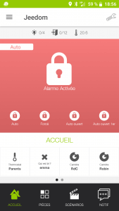 Application Jeedom Android